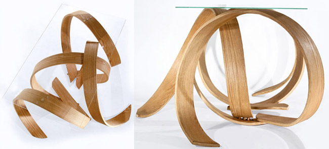 Couchtisch Glas Holz Design | mabsolut.com