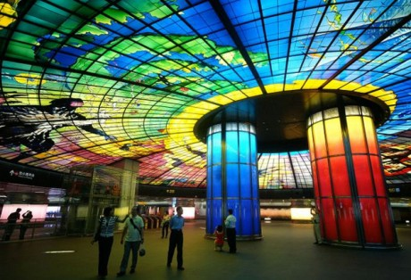u bahn station kunst design art city underground architektur taiwan