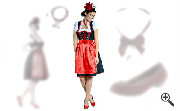 dirndl schwarz rot kleider g nstig online bestellen kaufen outfit tipps. Black Bedroom Furniture Sets. Home Design Ideas