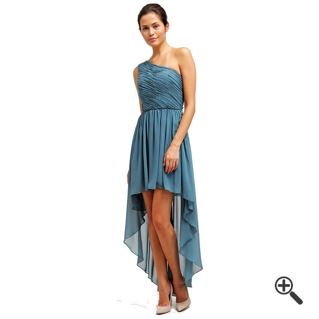 langes one shoulder kleid in blau 3 sexy outfits f r