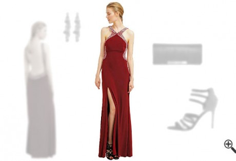 Rotes Abendkleid kombinieren Rote Outfits