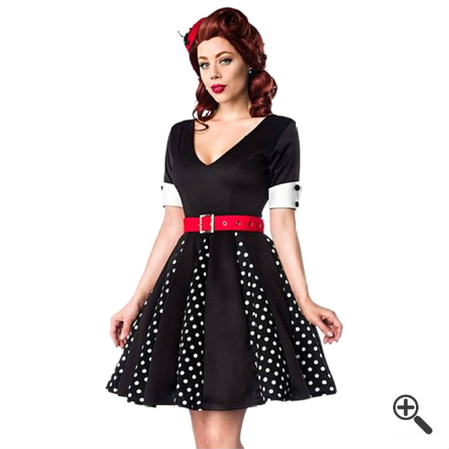 rockabilly kleid in schwarz 50er outfits f r tanja kleider g nstig online bestellen kaufen. Black Bedroom Furniture Sets. Home Design Ideas