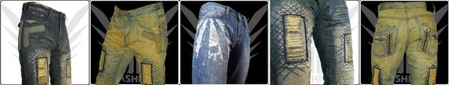 zerrissene jeans herren boot cut designer