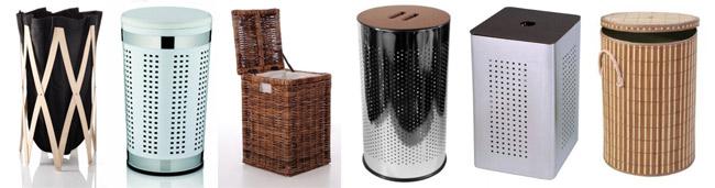 Wäschekorb: Vom Designer und voll mit coolen Klamotten