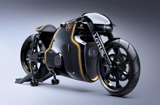 Lotus C-01 Designer Motorrad – Tron vs. Luxus