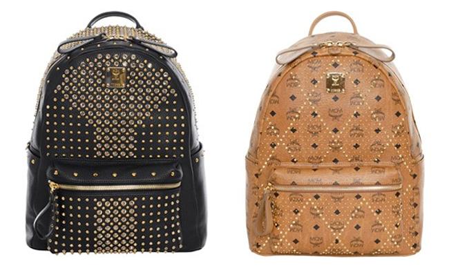 vintage rucksack leder designer fashion mcm michalsky