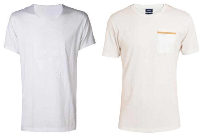 Weißes T-Shirt für Herren: V-Ausschnitt & Rundhals