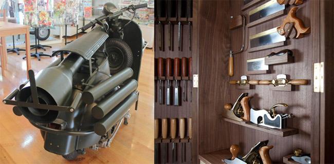 außergewöhnliche geschenke männer design motorrad werkzeug