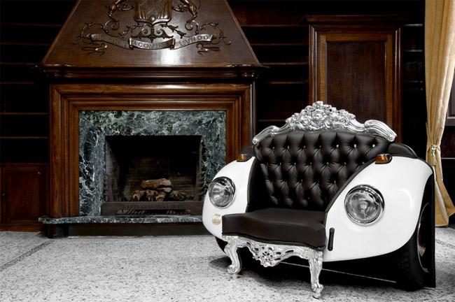 außergewöhnliche geschenke männer design vw beetle couch