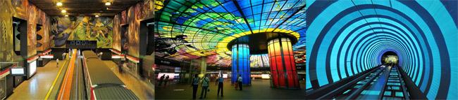 u bahn station kunst design art city underground architektur metropole