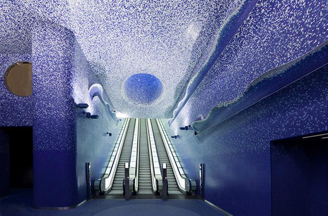 u bahn station kunst design art city underground architektur neapel
