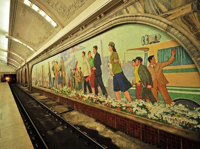 u bahn station kunst design art city underground architektur pjöngjang