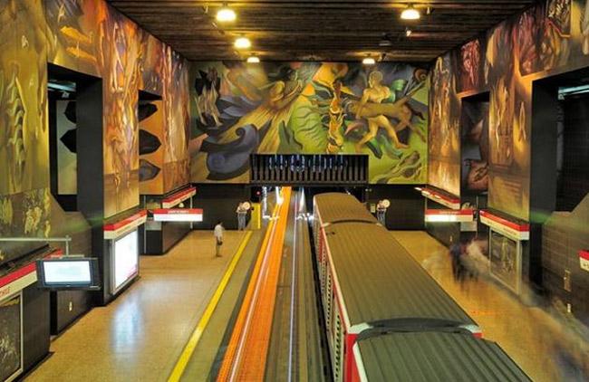 u bahn station kunst design art city underground architektur santiago