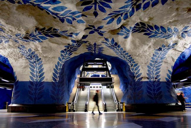 u bahn station kunst design art city underground architektur stockholm
