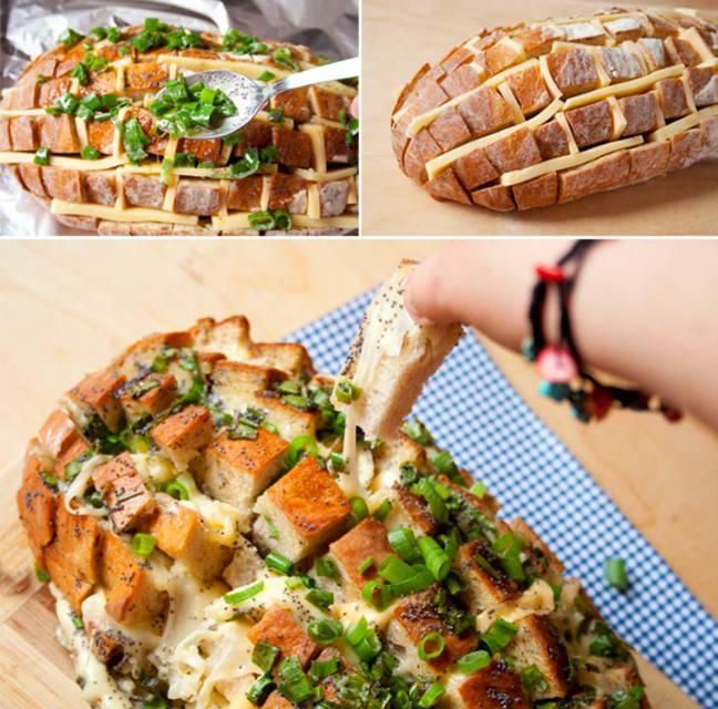 Party Essen: Der Party Käse-Brotigel für 20 Personen