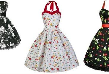 50er Kleider mit Petticoat & Polka Dots
