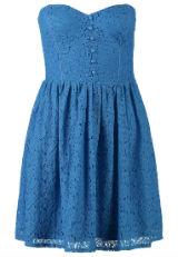 Kleid mit Spitze Spitzenkleid Blau