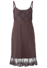 Kleid mit Spitze Spitzenkleid Braun