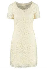 Kleid mit Spitze Spitzenkleid Creme