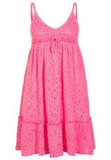Kleid mit Spitze Spitzenkleid Pink Rosa