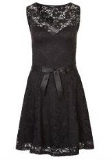 Kleid mit Spitze Spitzenkleid schwarz 3