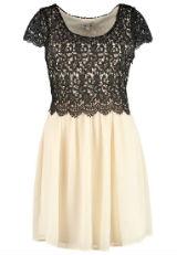 Kleid mit Spitze Spitzenkleid schwarz creme