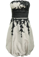 Kleid mit Spitze Spitzenkleid schwarz weiß