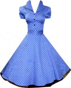 Rockabilly Kleider Petticoat blau