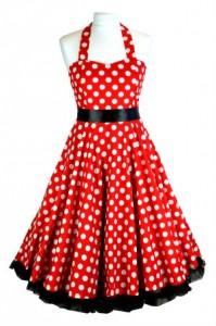Rockabilly Kleider Petticoat rot