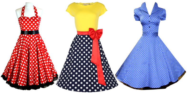 Rockabilly Kleider Petticoat schwarz rot blau