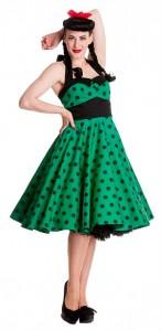 Rockabilly Kleider grün petticoat