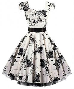 Rockabilly Kleider schwarz weiß Petticoat