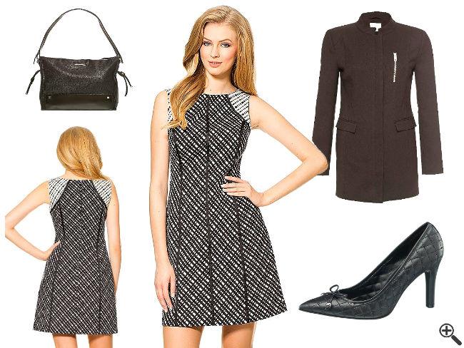 Hübsche Kleider für Teenager Outfit Kurz weiß schwarz