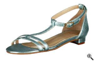 Sandale für Schöne bunte Sommerkleider knielang leicht luftig Outfit