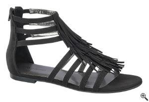 Sandale für Vintage Swing Kleider Schwarz Damen Outfit 50er 20er Jahre