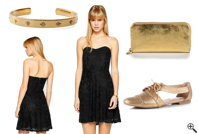 Schöne Partykleider Outfit Rückenfrei schwarz