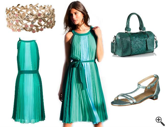 Schöne Sommerkleider Outfit knielang bunt leicht luftig