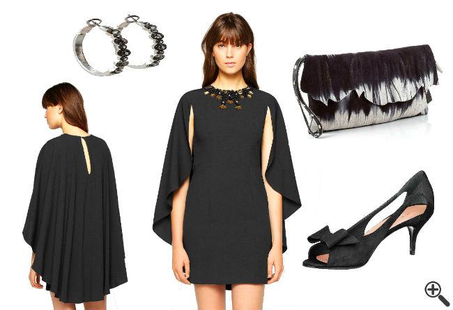 Sexy Kleider Outfit Mini Elegante schwarz