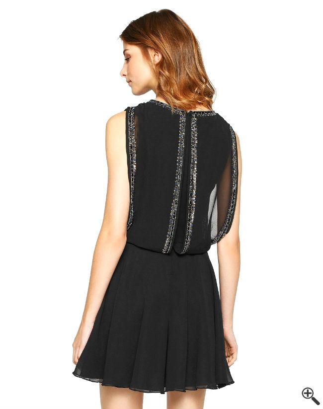 Vintage Swing Kleider Rücken Schwarz Damen Outfit 50er 20er Jahre