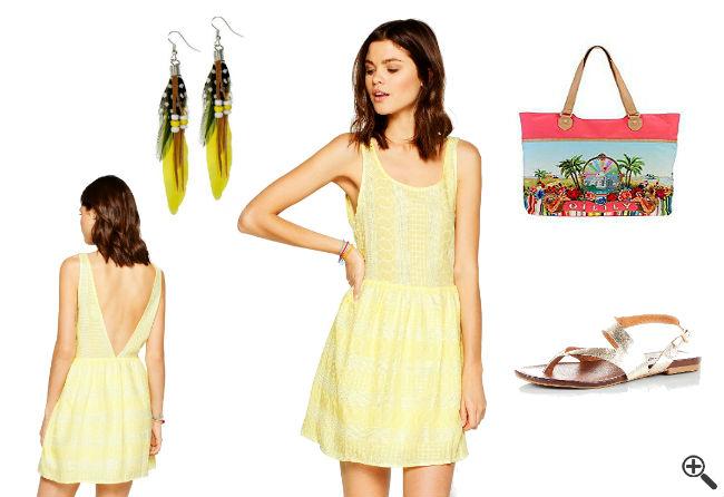 Beach Outfit Ideen Kleid mit Rückenausschnitt