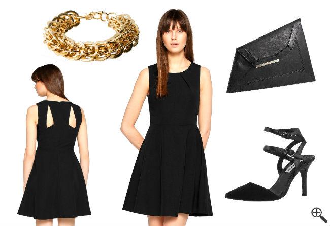 Disco Outfit Ideen Schöne Cocktailkleider schwarz