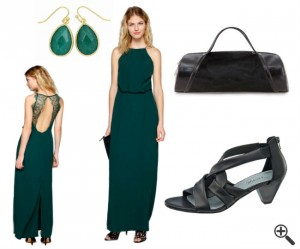Festliche Kleider zur Hochzeit als Gast Outfit grün lang