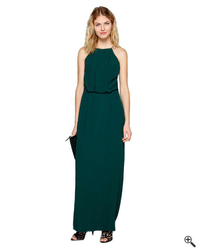 Festliche Kleider zur Hochzeit als Gast grün lang Outfit