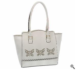 Handtasche für Kleider mit transparenten Ärmeln Weiße Spitze Outfit