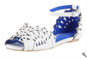 Sandale für Kleider mit transparenten Ärmeln Weiße Spitze Outfit
