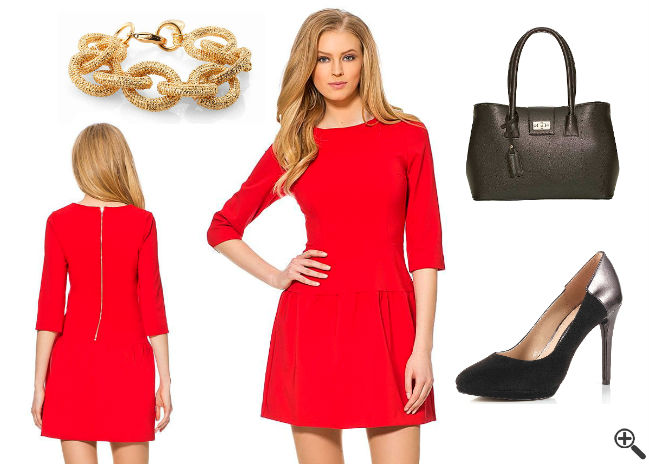 Schöne enge Kleider Outfit Ideen Rot Kurz