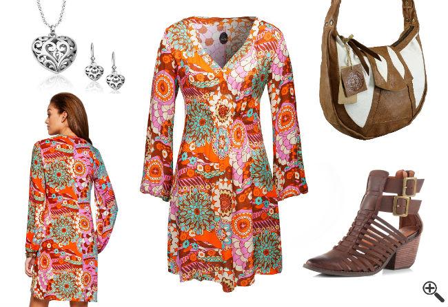 70er Outfit Party Disco Kleider 70er Jahre Stil