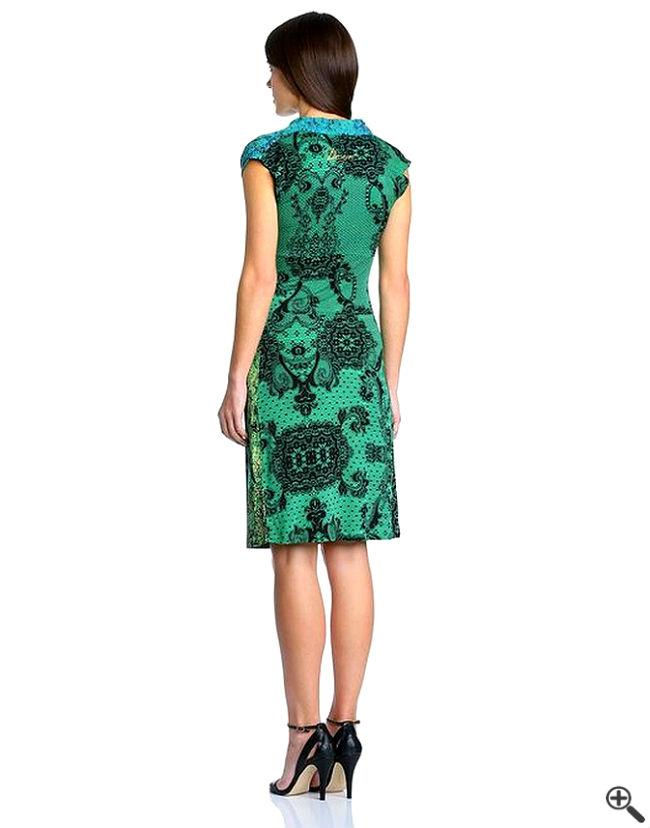 Desigual Kleider Rücken SALE Blau Grün Outfit
