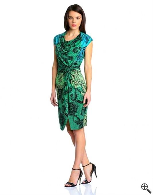 Kleider blau grun