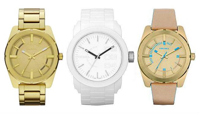 Diesel Uhrenarmband mit passender Diesel Armbanduhr für Damen Kombinieren